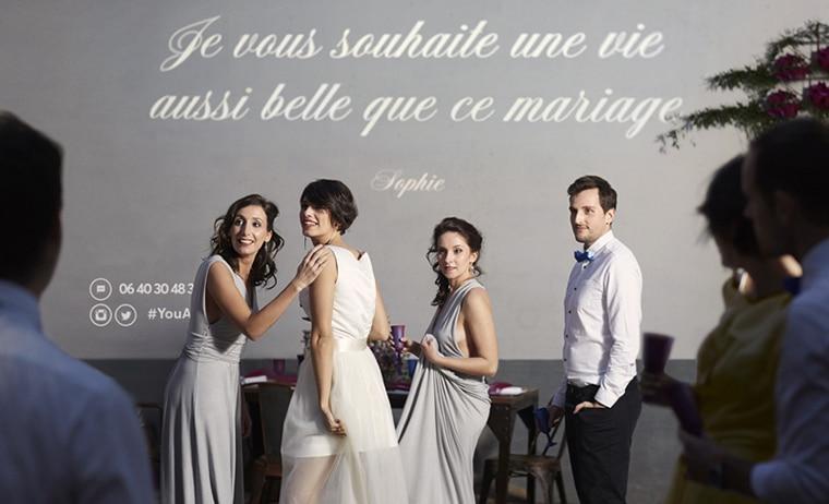 Une animation de mariage originale l 39 interactive wall causons mariage - Animation mariage originale ...
