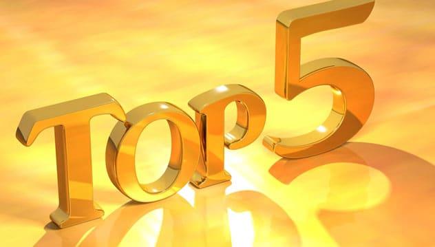 top 5 des articles 2017